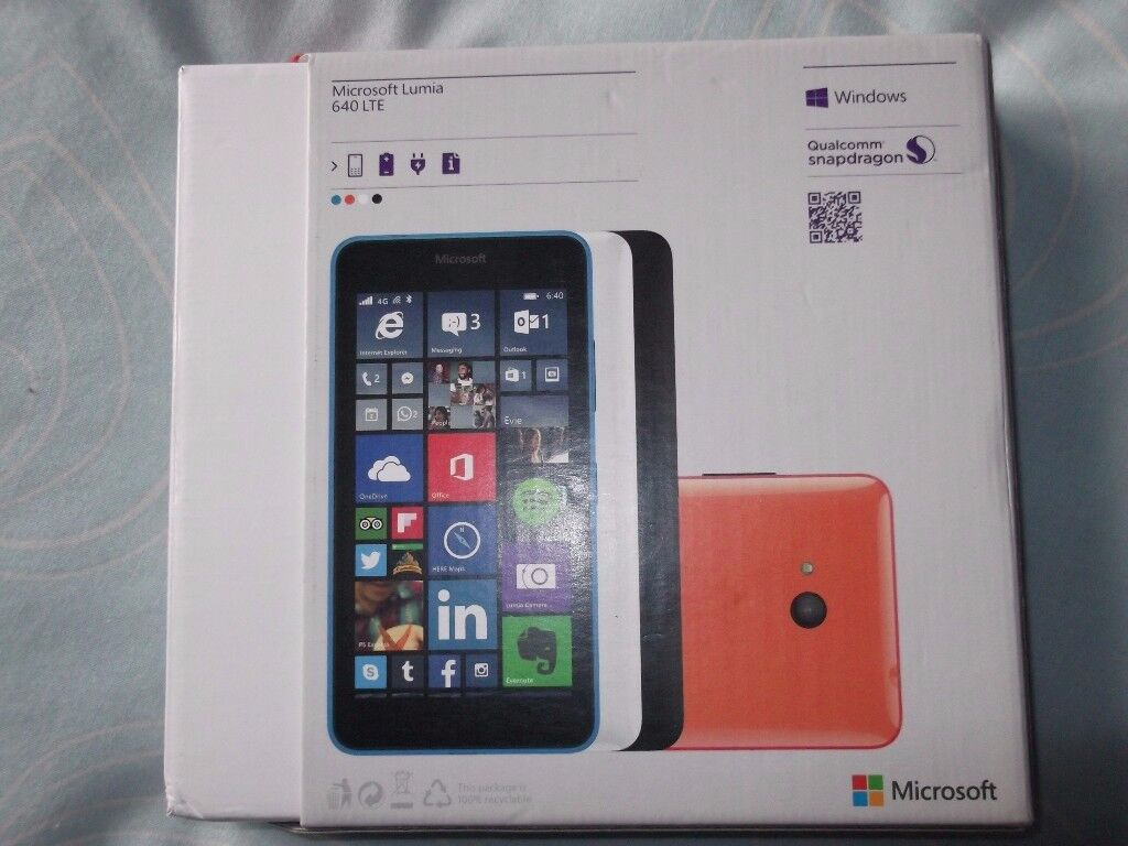 nokia microsoft lumia 640 LTE (VODAFONE) boxed in excellent conditionin Tower Hamlets, LondonGumtree - nokia microsoft lumia 640 LTE (VODAFONE) boxed in excellent condition totally unmarked comes rear jel case and 3 screen protectors these networks piggyback vodafone Talk Mobile Minnows Cortel Telephone, Glemnet, Highnet, Lebara Mobile, Ownfone,...