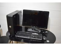 """Dell Vostro 200 Windows 10 Pro + 20"""" HP Monitor with built in Speakers + Mouse & Keyboard"""
