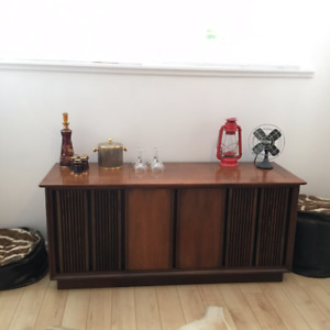 Vintage Mid Century Credenza (Has Audio Jack to Play Music)