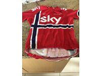 Rapha brand Team Sky Norwegian jersey