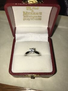 Beautiful timeless solitaire engagement ring