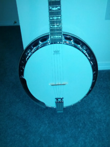 Banjo and case