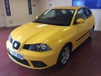 07 SEAT IBIZA , STRIKING COLOUR , IDEAL FIRST CAR , REALLY LOVELY CONDITION , DRIVES BEAUTIFUL ,