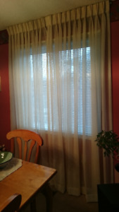 Custom Made Linen Blend Pleated Curtains