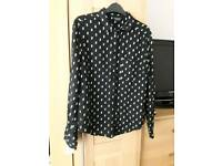 Blouse size 12, dress size 10 both from top shop
