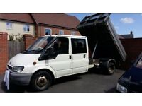 Ford transit Double Cab dropside tipper