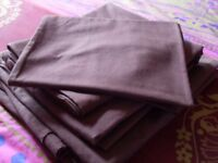 Double Bed Duvet Set, Sheets & Pillowcases, Chocolate Brown