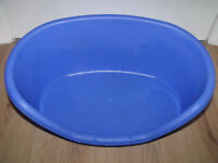 blue plastic pet bed 13 x 20 inches approx