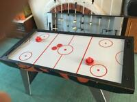 5 in 1 football, air hockey, table tennis, backgammon and chess/draught table