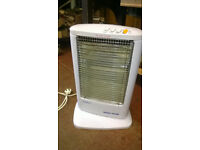USED Portable Halogen Oscillating Electric Heater Home Office Garden Patio 1200W