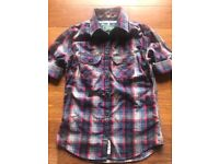 Half sleeve SUPERDRY ladies shirt BRAND NEW WITH TAGS ATTACHED size large