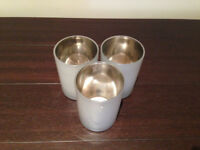 John Lewis set of 3 glass tea light holders JUST REDUCED