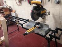 DeWalt chop saw & table stand