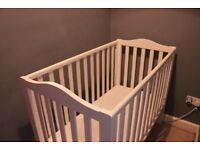 John Lewis Mika Lotta baby cot, solid wood, white