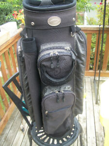 GOLF BAG AND PULL CART  LIKE NEW ,