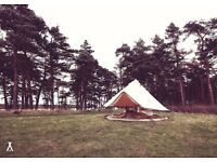Hire Isobella our Luxury 4m Bell Tent (Tipi/Yurt) *Perfect for glamping, garden parties and weddings
