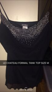 Le chateau embellished tank top