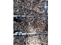 2 nash scope rods mk2 9ft 3.5tc and nash black ops rod bag new