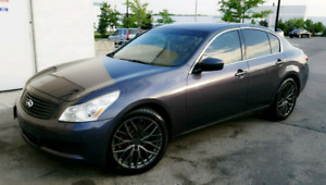 INFINITI G37X 2009 SEDAN BLUE... FULLY LOADED