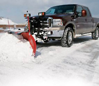 Commercial snow plowing sanding snow removal