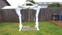 Wedding Benches and Arch