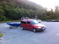 Camper+left hand drive+peugeot+new MOT+towbar+roofrack+new radio+extras