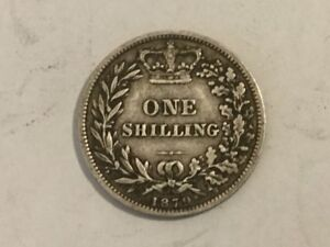 1879 Silver One Shilling Coin