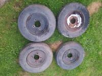 4 used Trailer wheels