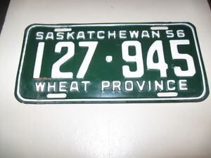 OLD SASK LICENSE PLATES - 1956 TO 1974