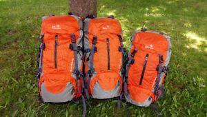 Hiking Pack–Orange 45L+5L Backpacker