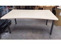 Werndl Beech Curved Desk