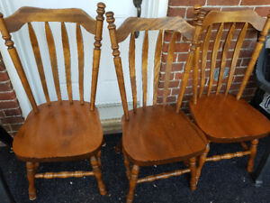 Comfortable solid wood chairs with high back