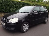 Volkswagen polo, 1.2, 2006, 5 door black cheap insurance 78k