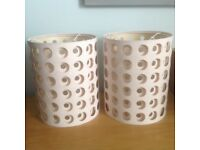 3 lovely cream lampshades