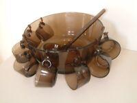Vintage Glass Punch Bowl