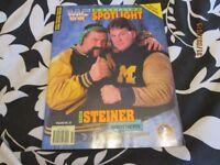 RARE WWF / WWE WRESTLING SPOTLIGHT MAGAZINE VOLUME NO 23 THE STEINER BROTHERS