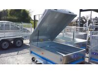 MAYPOLE 5X3 TRAILERS WITH LOCKABLE LID PERFECT FOR CAMPING OR FISHING GEAR AND TOOLS