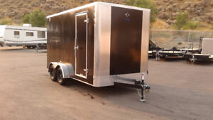 2017 7'x14' Cargo Trailer. EXTRA HEIGHT! Side x Side!