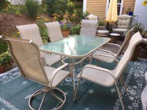 """""""PATIO TABLE AND SIX CHAIRS FOR SALE"""""""