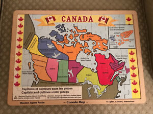 Wooden Canada Puzzle