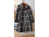 Desigual black / white coat size 40 (UK 12)