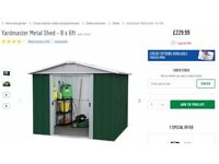 Yardmaster 8 x 6 Metal Apex Shed FOR SALE