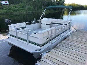 ***EXTRA CLEAN*** 2008 16X8 SEA STAR PONTOON -  4 STROKE MERCURY