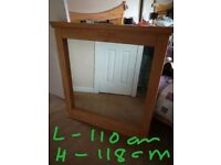 Reid furniture solid wood mirror