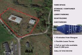 INDUSTRIAL YARD/ LAND FOR RENT, COMMERCIAL LAND, Builders Yard, Storage, Container, Glasgow