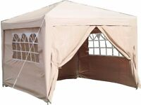 3m x3m pop -up gazibo beige