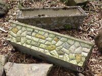 Stone trough planters