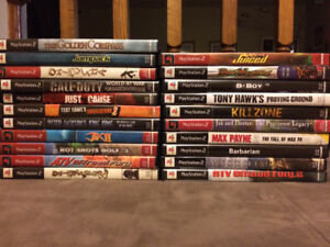playstation 2 ps2 play station games cleaned tested