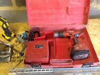 HILTI sf180 Drill in case with charger and battery