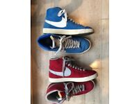Nike Blazers - Suede (Red and Blue pair)